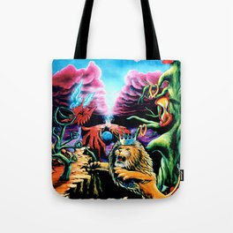 Trippy Psychedelic Visionary Art by Vincent Monaco -The Wrath Tote Bag