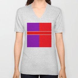 Team Color 6...red,purple Unisex V-Neck