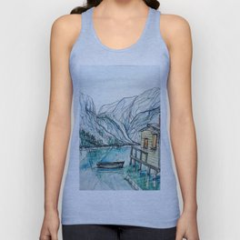 Cabin on the Lake Unisex Tank Top