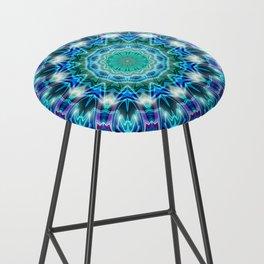 Purple Aqua Magical Mandala Bar Stool