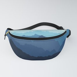 Mountains in Blue Fog Fanny Pack
