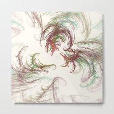 Harvest Winds Fractal Metal Print
