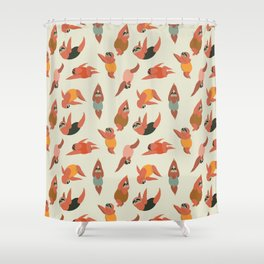 Sloth Swimmer Shower Curtain
