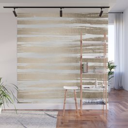 White Gold Sands Painted Stripes Wall Mural