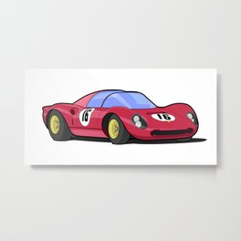 Historic racing car Metal Print