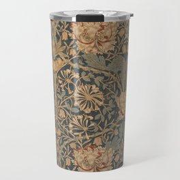 Honeysuckle by William Morris 1876 Antique Vintage Pattern, CC0 Spring Summer Travel Mug