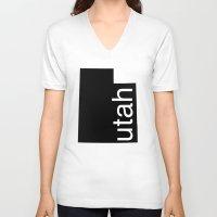 utah V-neck T-shirts featuring Utah by Isabel Moreno-Garcia