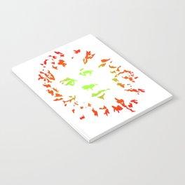 Green Flower Face Notebook