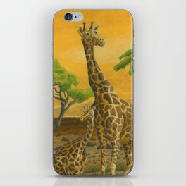Giraffes at Sunset iPhone Skin