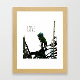Something about Love | Tropical nature photograph Framed Art Print
