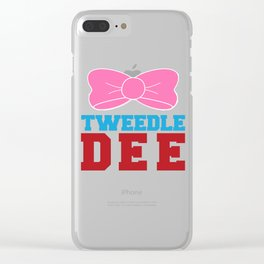 Tweedle Dee Matching Funny Graphic T-shirt Clear iPhone Case