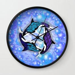 ORCAS BUBBLES Wall Clock