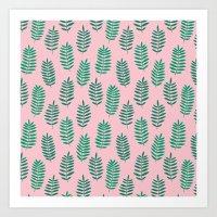 Pattern Project #42 / Ferns Art Print
