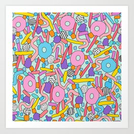 CIRCLES IN MOTION - candy Art Print
