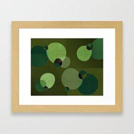 """""""Retro Green Super Dots"""" Framed Art Print"""