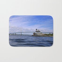 Rose Island and Newport Rode Island Bridge combo Bath Mat