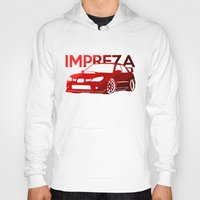 subaru Hoodies featuring Subaru Impreza 2006 - classic red - by Vehicle