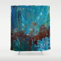 skyline Shower Curtains featuring Skyline by kaybattle