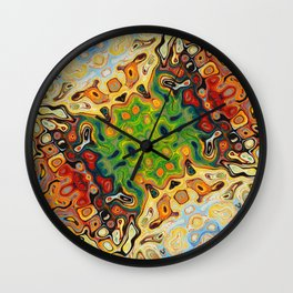 abstract liquify psychedelic art Wall Clock