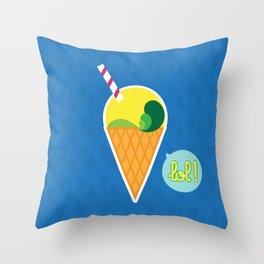 Ice Cream - CosmoLOL!icious Throw Pillow