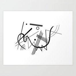 Kandinsky - Black and White Abstract Art Art Print