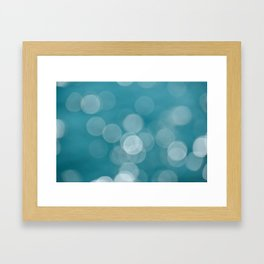 Aqua Bokeh Framed Art Print