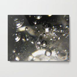 Bubbles and Light Metal Print