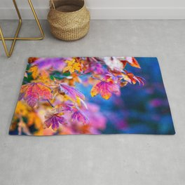 Dazzling Japanese Maple Tree Leaves In Autumn Rug
