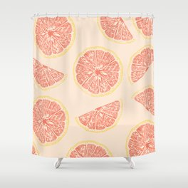 grapefruit and sunny days Shower Curtain