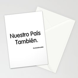 Nuestro Pais Tambien Stationery Cards