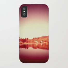 sunset moon. iPhone Case
