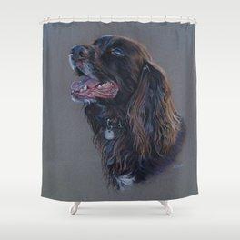 English Cocker Spaniel art print Shower Curtain