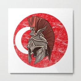 Turkey Turkish Spartan  TShirt Warrior Shirt Flag Gift Idea Metal Print