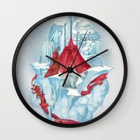 ice Wall Clocks featuring ice  by Tanya_tk