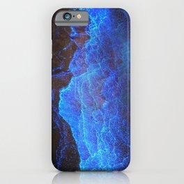 Night Ocean Glowing Waves - Bioluminescent Plankton iPhone Case