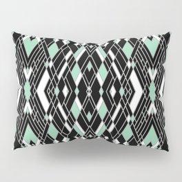 Art Deco Mint Pillow Sham