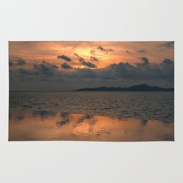 Sunset on the Gulf of Thailand Rug