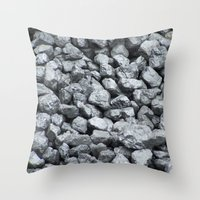 black and gold Throw Pillows featuring Black Gold by Marina Scheinost