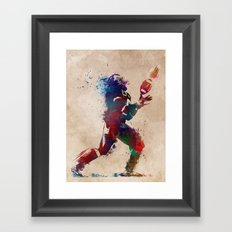 American football player 2 Framed Art Print