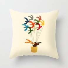 Whimsical Journey Throw Pillow