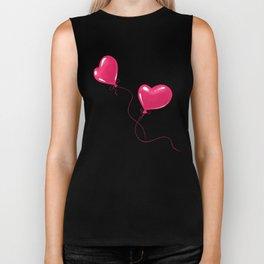Heart shaped red balloons Biker Tank
