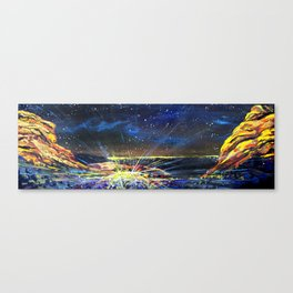 Concert at Red Rocks Painting  Canvas Print