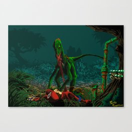 The hunger for plumber Canvas Print