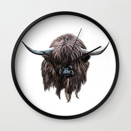 Scottish Highland Cow Wall Clock
