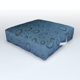 It was Night and the Rain fell Outdoor Floor Cushion