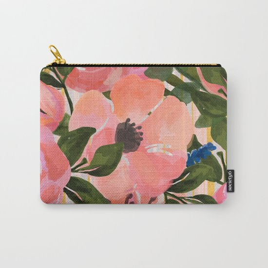 Watercolor flowers and plants 02 Carry-All Pouch