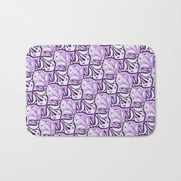 Symmetric Frog Tessellation in Purple Bath Mat