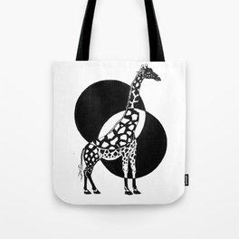 Inverted Giraffe Tote Bag