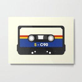 Black Cassette #2 Metal Print