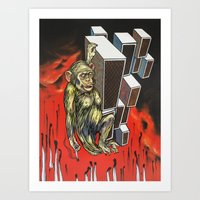 ape Art Prints featuring Ape by VikaValter